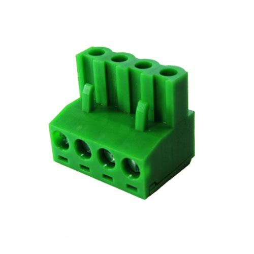 Green Connector 5.08mm Pitch L-Type Top Feed 4 Way PCB Cable Terminal Block, 4Pin Plug in Screw (AE-BLOCK/508/4) R74.54 excl.