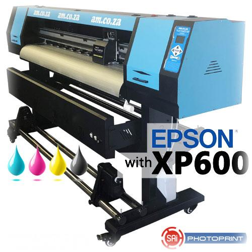 FastCOLOUR Lite 1600mm EPSON XP600 Printhead Budget 3 Year Eco-Solvent Large Format Printer, SAi FlexiPRINT RIP Software & Set of CMYK 3 Year Eco-Solvent Ink (F-1604/XP600/ECO) R73419 excl.