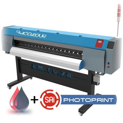 FastCOLOUR 1860mm EPSON DX5 Printhead Large-Format ECO Solvent Ink Inkjet Printer, SAi FlexiPRINT Software & Inks (F-1864/ECO) R141279 excl.